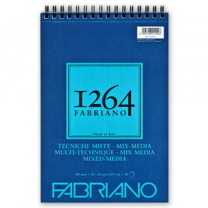 Bloco de Papel Fabriano 1264 Mixed Media 300g/m² A4 30 Folhas