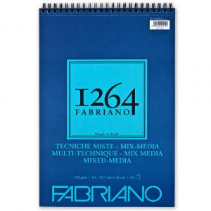 Bloco de Papel Fabriano 1264 Mixed Media 300g/m² A3 30 Folhas