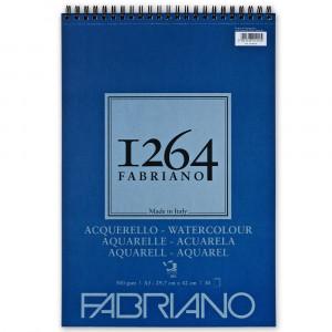 Bloco de Papel Fabriano 1264 Watercolor 300g/m² A3 30 Folhas