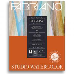 Bloco de Papel Para Aquarela Studio Satinado Fabriano 300g/m² 20,3x25,4cm 12 Folhas