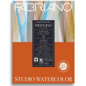 Bloco de Papel Para Aquarela Studio Satinado Fabriano 300g/m² 22,9x30,5cm 12 Folhas
