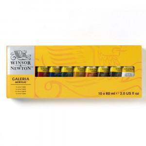 Estojo Tinta Acrílica Galeria Winsor & Newton 60ml 10 Cores