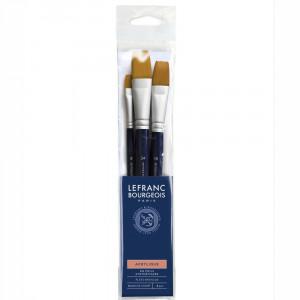 Kit de Pincéis Lefranc & Bourgeois 3 unidades 300237