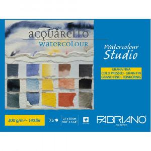 Bloco de Papel Para Aquarela Studio Fabriano GF 300g/m² 27x35cm