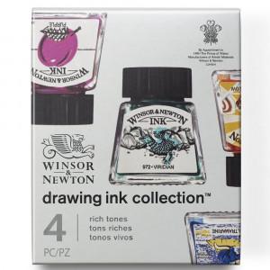 Tinta Para Desenho Winsor & Newton 14ml 4 Cores Rich Tones