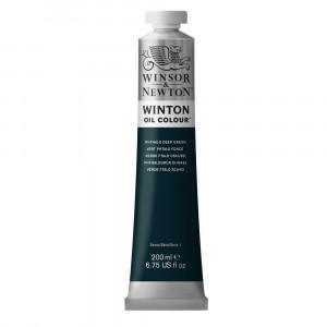 Tinta Óleo Winton 200ml Winsor & Newton 048 Phthalo Deep Green