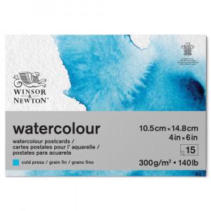 Cartão Postal Para Aquarela Winsor & Newton 10,5x14,8cm 15 Folhas
