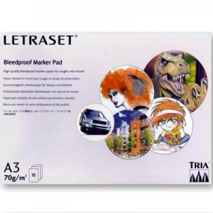 Bloco Para Marcador Bleedproof LetraSet A3 70g/m² 50 Folhas