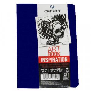 Caderno Para Sketch ART BOOK Inspiration Canson A4x2 Azul