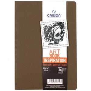 Caderno Para Sketch ART BOOK Inspiration Canson A4x2 Marrom