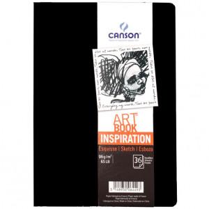 Caderno Para Sketch ART BOOK Inspiration Canson A4x2 Preto