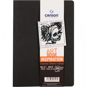 Caderno Para Sketch ART BOOK Inspiration Canson A6x2 Preto