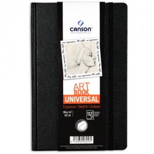 Bloco Sketchbook e Esboço ART BOOK Universal Canson 14x21,6cm