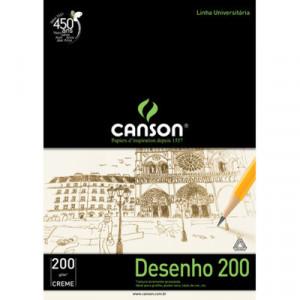 Bloco de Papel Para Desenho Canson 200g/m² A2 Creme