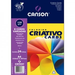 Papel Colorido Criativo Canson Cards 120 g/m²  A4