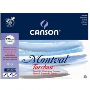 Bloco de Papel Para Aquarela Montval Torchon Canson A4+ 270g/m²