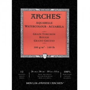 Bloco de Papel Para Aquarela Arches Canson TT 300g/m² 26x36cm