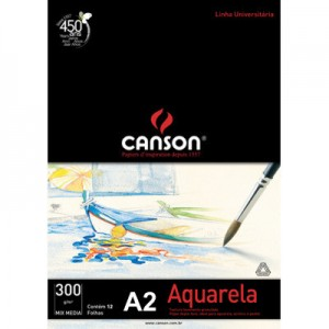 Bloco de Papel Para Aquarela Canson Mix Media A2 300g/m²