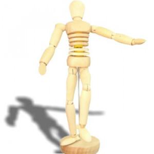 Manequim Articulado Masculino 20 cm Torso Flexível