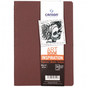 Caderno Para Sketch ART BOOK Inspiration Canson A4x2 Terracota