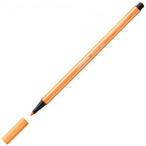 Caneta Stabilo Pen 68 Neon 054 Laranja