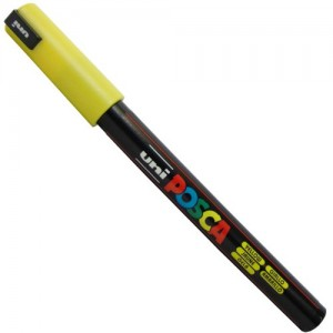 Caneta Posca Uni Ball PC-1MR Amarelo