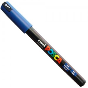 Caneta Posca Uni Ball PC-1MR Azul