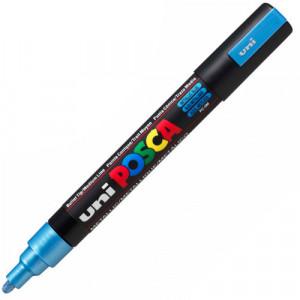 Caneta Posca Uni Ball PC-5M Azul Metálico
