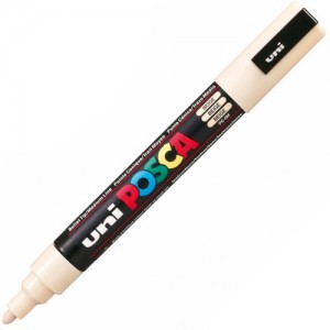 Caneta Posca Uni Ball PC-5M Bege
