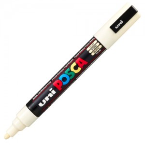 Caneta Posca Uni Ball PC-5M Marfim