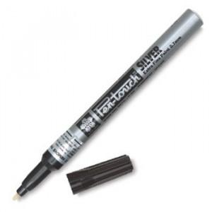 Caneta Permanente Pen Touch 1.0mm Prata Sakura
