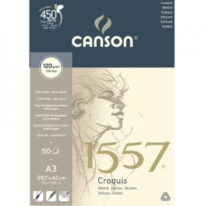 Bloco de Papel Sketchbook Canson 1557 A3 120g/m²