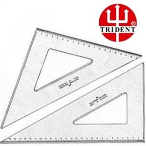 Jogo de Esquadros Trident com escala 45º e 60º 1516/1616 16cm