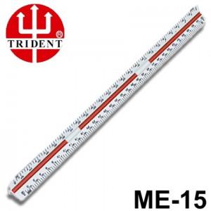 Escalímetro Triangular Trident 15cm ME15
