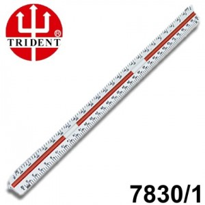 Escalímetro Triangular Trident 30cm - 01