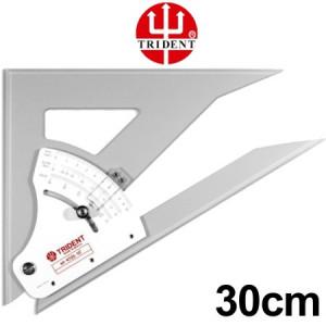 Esquadro Ajustável com Transferidor 30cm 4730 Trident