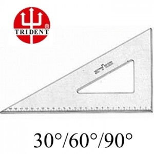 Esquadro Trident com escala 60º 1637 37cm