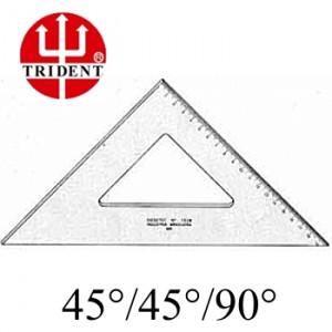 Esquadro Trident com escala 45º 1521 21cm