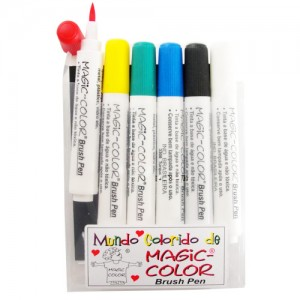 Canetas Magic Color Brush Pen 06 Cores 771