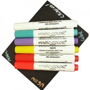 Canetas Magic Color Neon Mini 06 Cores 486