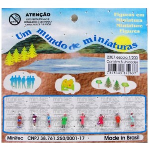 Figuras Para Maquetes 1/200 2307 Minitec 08 Peças