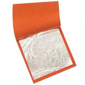Folha de Prata Para Douração e Restauro 14x14cm 100 Folhas