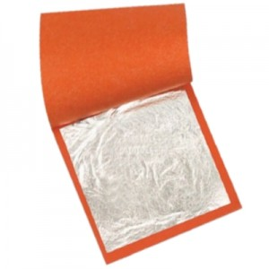 Folha de Prata Para Douração e Restauro 14x14cm 1000 Folhas