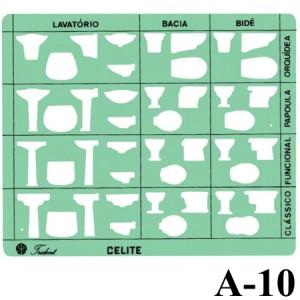 Gabarito Arquitetura A-10 Sanitários Trident