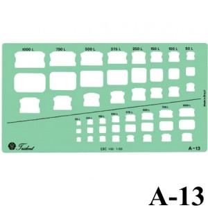 Gabarito Arquitetura A-13 Caixas D'água Trident