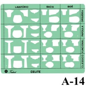Gabarito Arquitetura A-14 Sanitários Trident