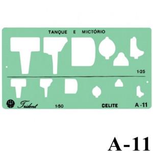Gabarito Arquitetura A-11 Sanitários Trident