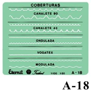 Gabarito Arquitetura A-18 Coberturas Eternit Trident