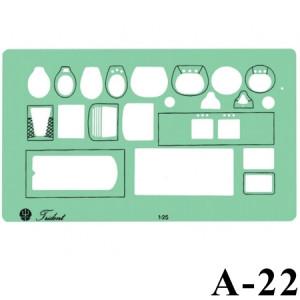 Gabarito Arquitetura A-22 Sanitários Trident