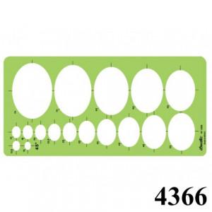 Gabarito Desetec 4366 Desenho Elipses 45°